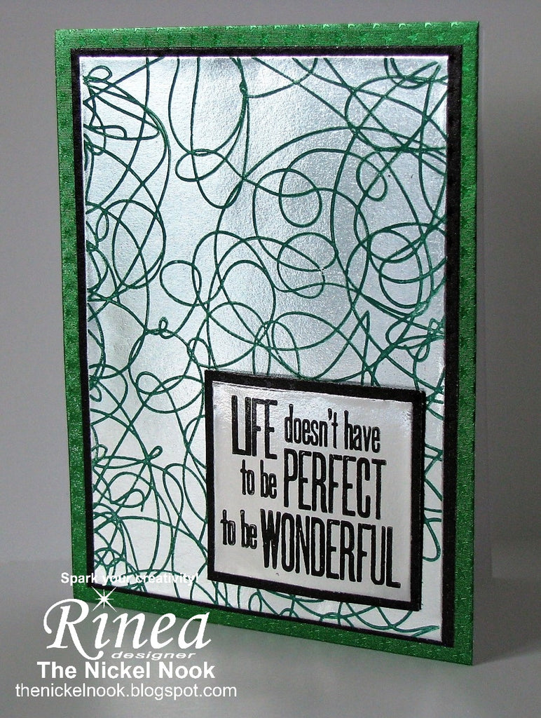 Wonderful Life Card using Rinea Foiled Paper