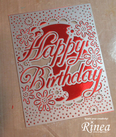 Happy Birthday Card using Rinea Foiled Paper