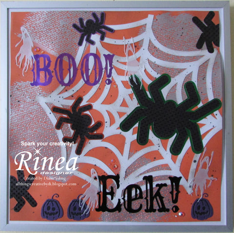 DIY Halloween Decor Using Rinea Foiled Paper