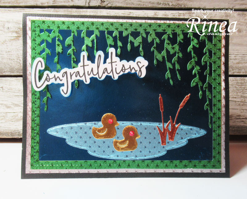 Baby Congratulations Card Using Rinea Foiled Paper