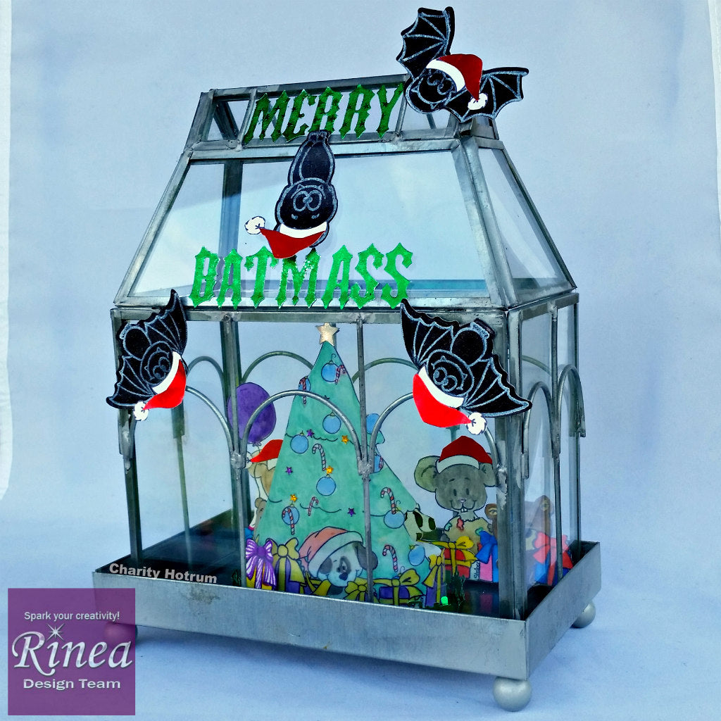 Merry Batmass Christmas with Rinea Foiled Paper
