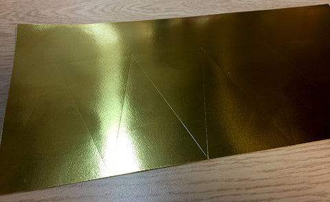 gold foil marking