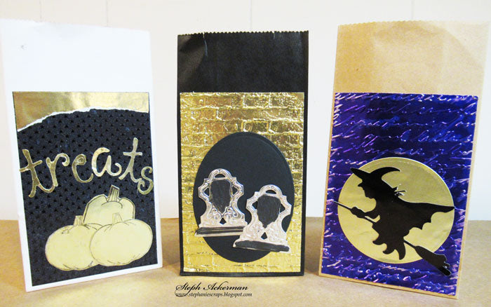 Halloween Treat Bags using Rinea Foiled Paper