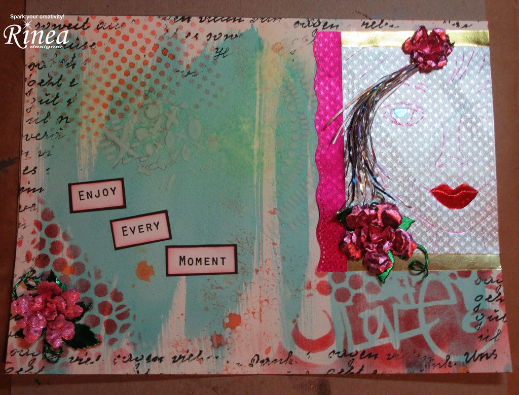 Journal Page using Rinea Foiled Paper