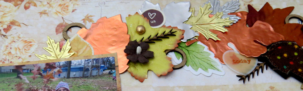Scrapbook Layout with Rinea Foiled Paper