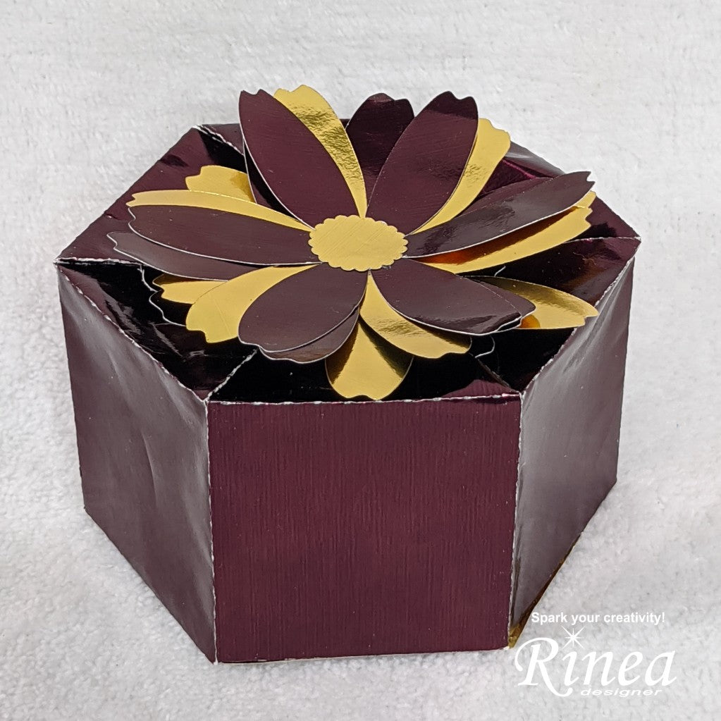 Candy Gift Box Using Rinea Foiled Paper