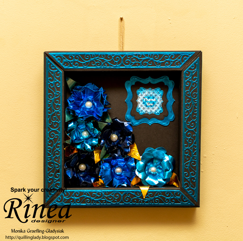 Box Frame with Rinea Foiled Paper