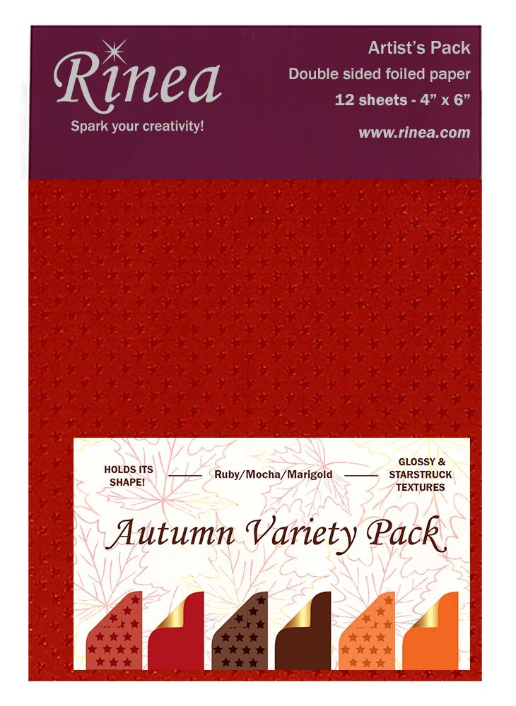 Rinea Autumn Variety Foiled Paper
