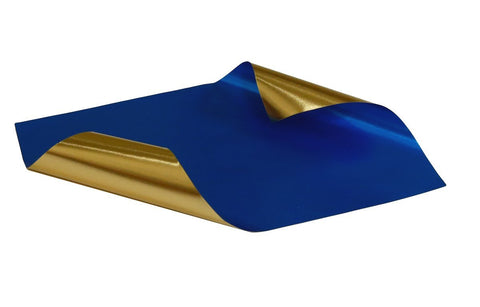 Rinea Cobalt Blue Glossy Foiled Paper