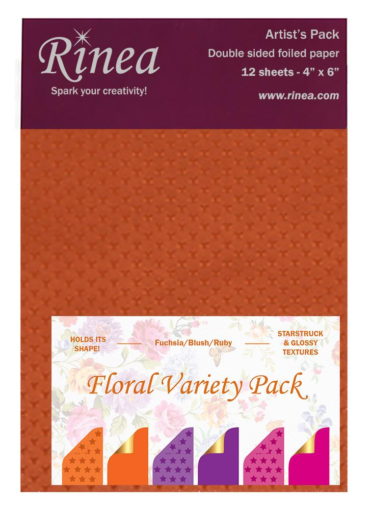 Rinea Floral Variety Foiled Paper