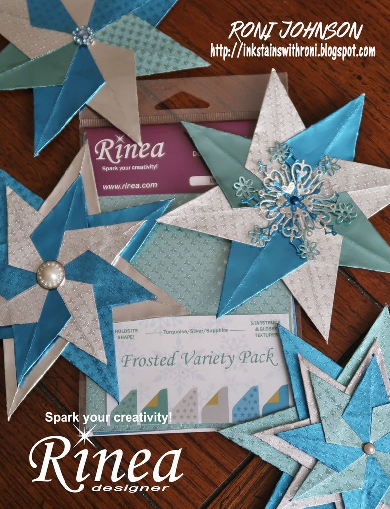 Rinea Frosted Variety Foiled Paper