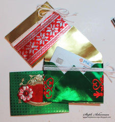Gift Card Holders using Rinea Jolly Foiled Paper Variety Pack