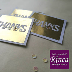 Rinea Gold Glossy Foiled Paper