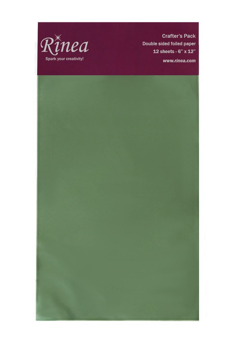 Rinea Jade Green Glossy Foiled Paper