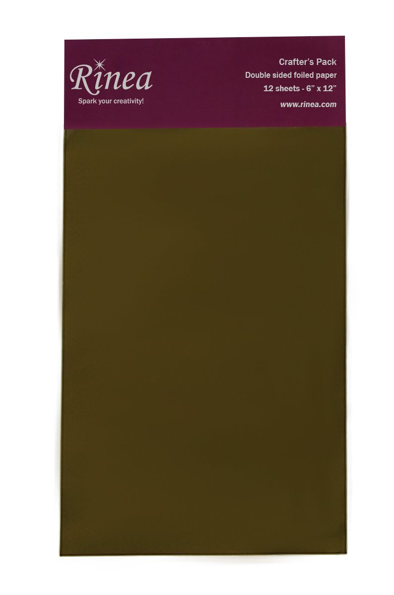 Rinea Mocha Brown Glossy Foiled Paper