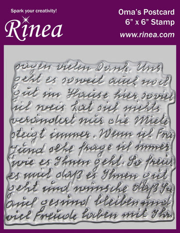 Rinea Background Stamp Oma's Postcard