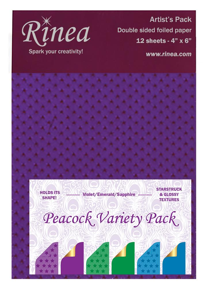 Rinea Peacock Variety Foiled Paper