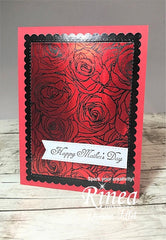 Rinea Ruby Red Glossy Foiled Paper