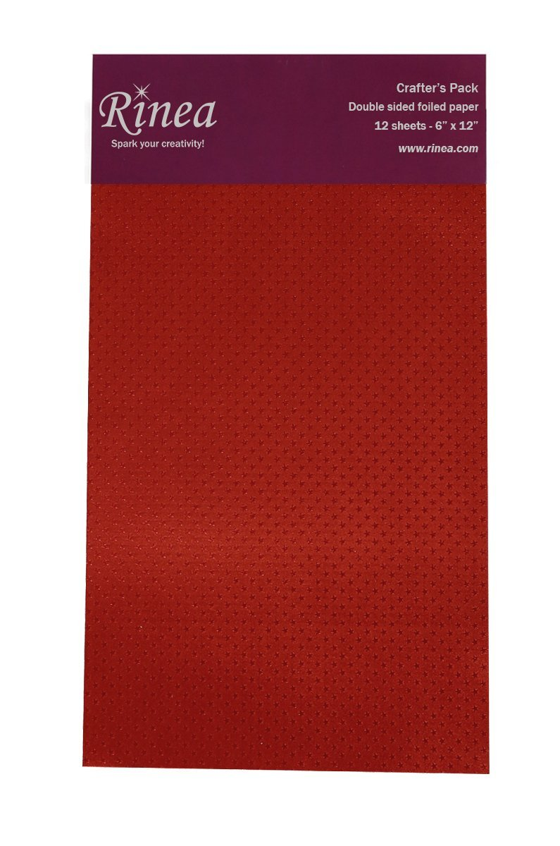 Rinea Ruby Red Starstruck Foiled Paper