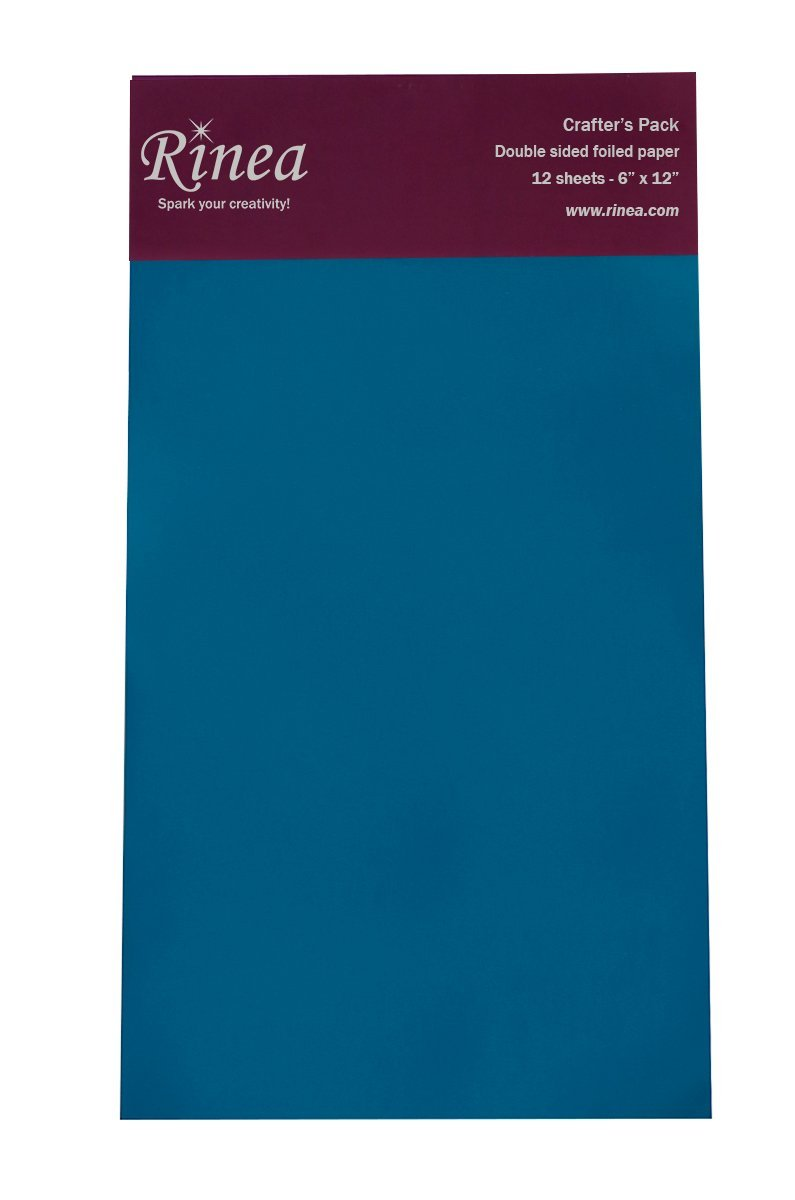 Rinea Sapphire Blue Glossy Foiled Paper