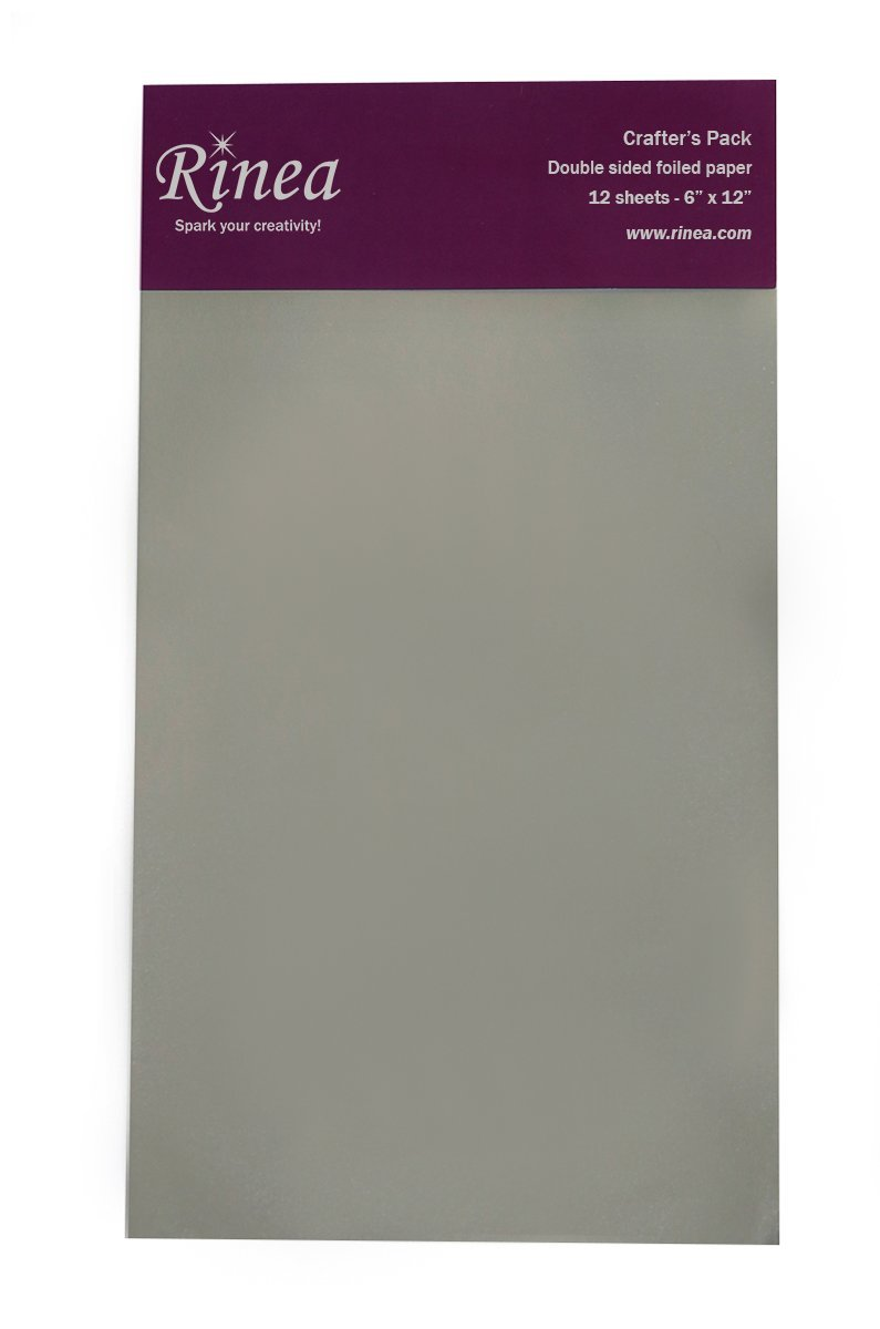 Rinea Silver Glossy Foiled Paper