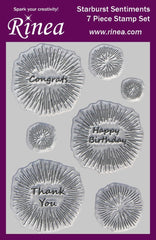 Rinea Starburst Sentiments Stamps