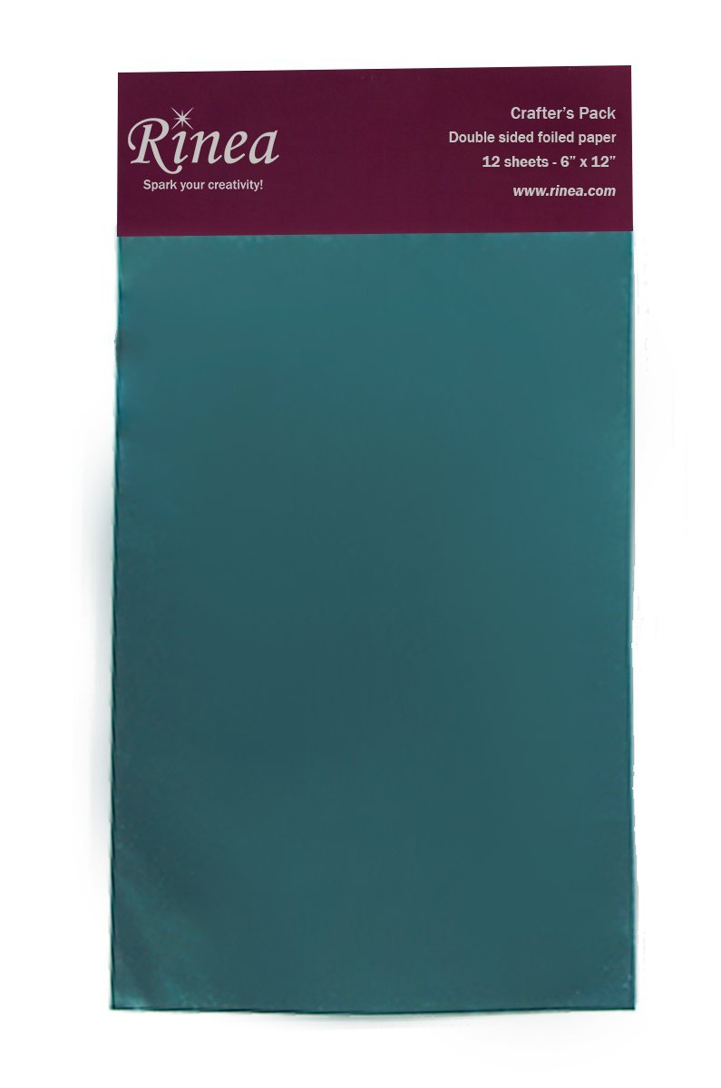 Rinea Turquoise Blue Glossy Foiled Paper