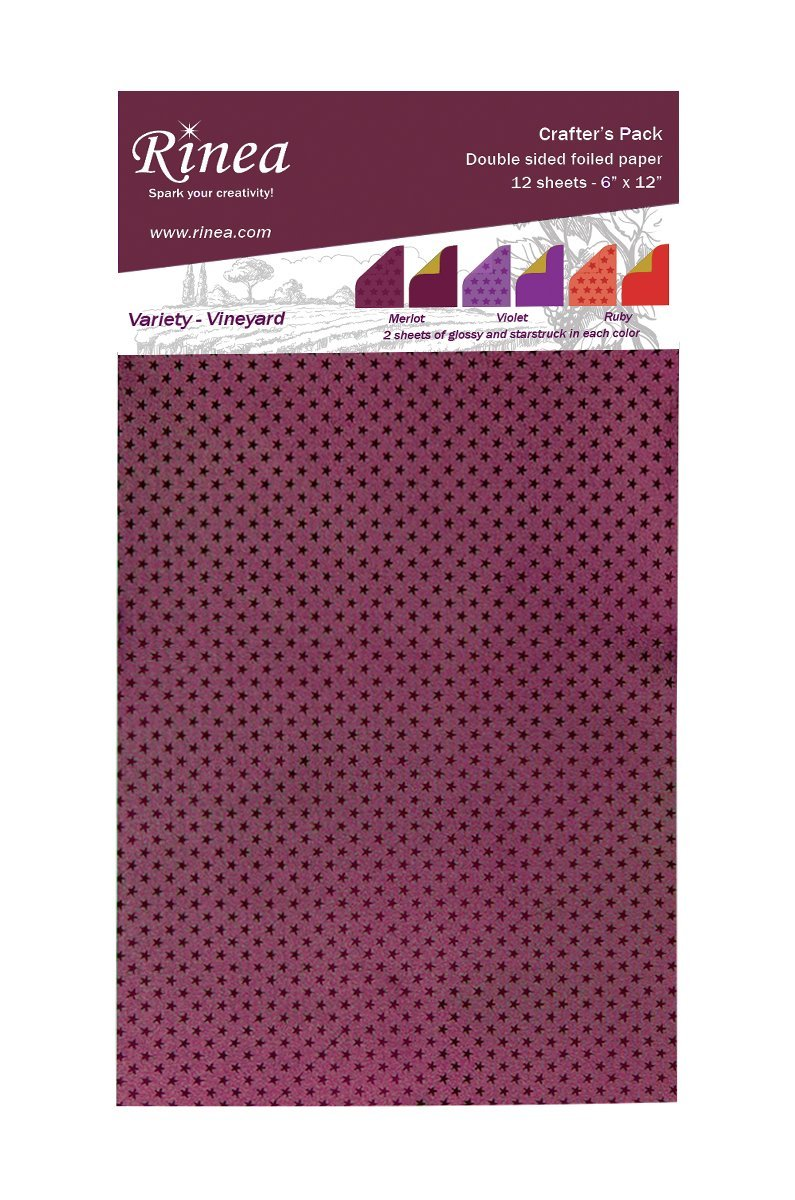 Rinea Vineyard Variety Foiled Paper