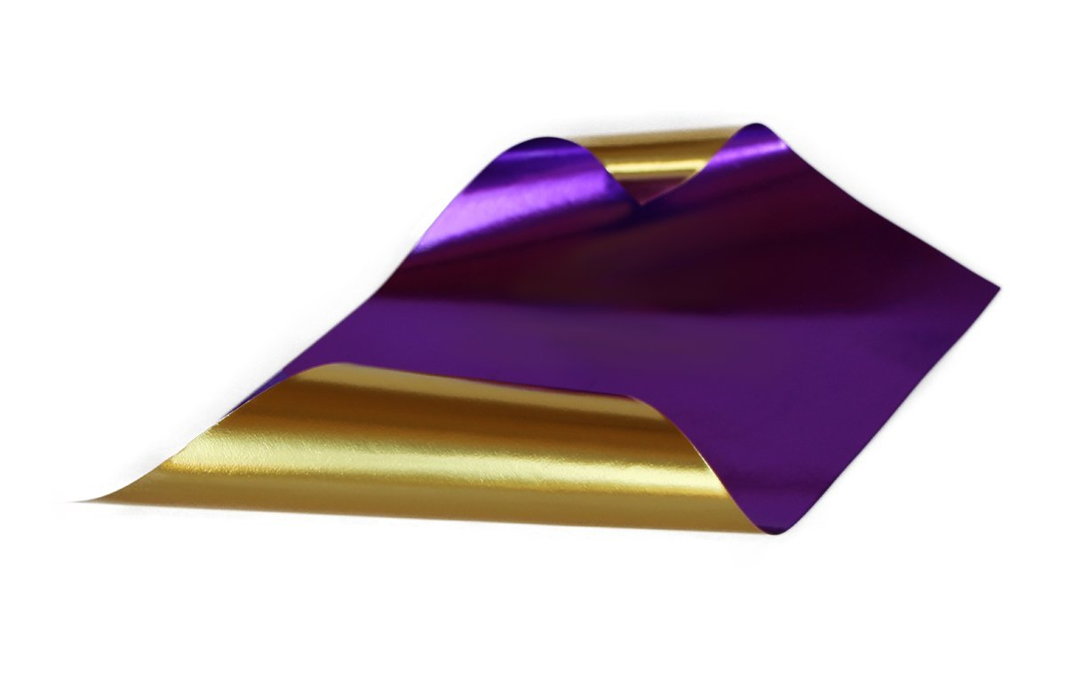 Rinea Violet Purple Glossy Foiled Paper