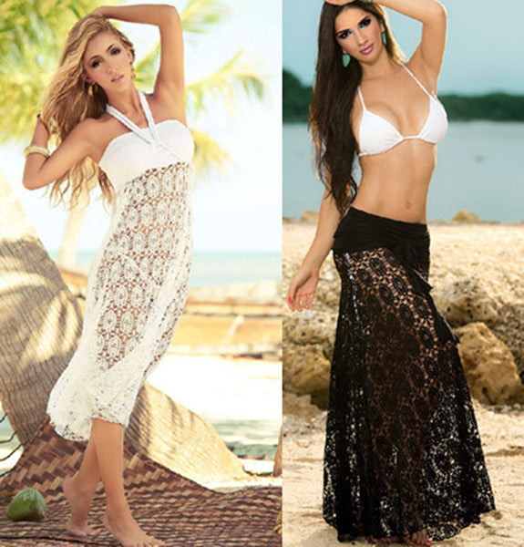Long Dress Beach Skirt Bikini cover up - Olivia and Ava