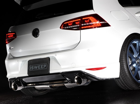 iSweep Rear Under Skirt Diffuser - 2015+ VW Golf GTI MK7