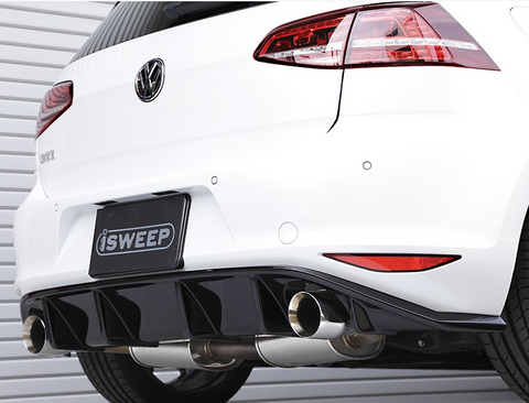 iSweep DTM Rear Diffuser - 2015+ VW Golf GTI MK7