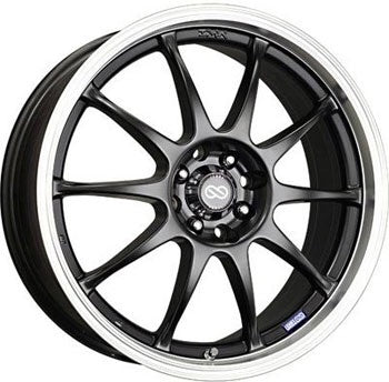Enkei J10 wheel (4X108 17x7 ET42) Black or Silver