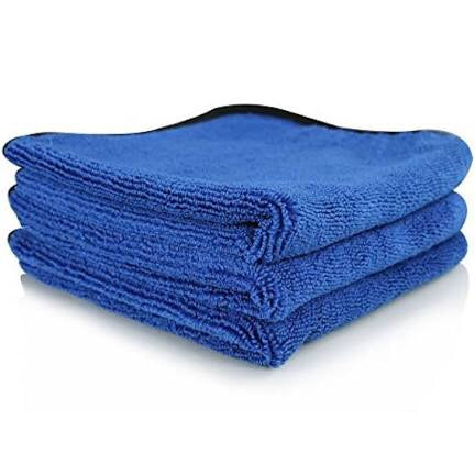 Chemical Guys The Workhorse Towel Professional Grade Microfiber Towels, Blue (3 Pack)