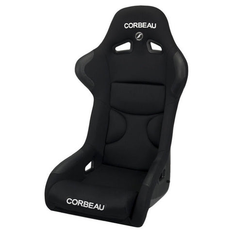 Corbeau FX1 Pro Black Cloth Fixed Back Seat - Universal