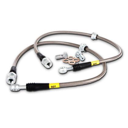 Stoptech Stainless Steel Braided Front Brake Lines - 2008+ BMW 135i (E82) N54