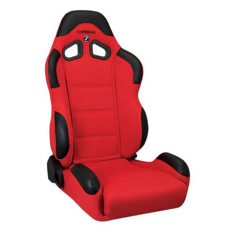 Corbeau CR1 Reclining Red Cloth Seat - Universal