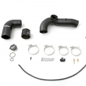 cp-e Exhale Hard Pipe To Throttle Body w/ HKS Flange Black - 2013+ Ford Focus ST