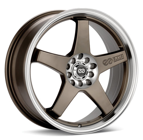 Enkei EV5 wheel (4x108 17x7 ET45) Hyper Black or Bronze