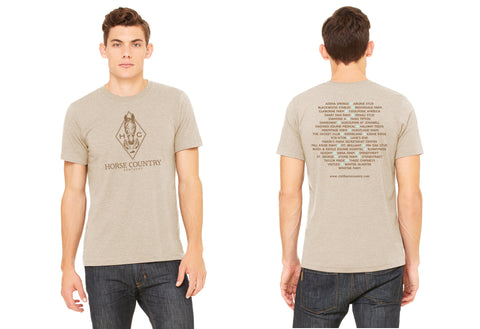 Tan Horse Country Logo Short Sleeve T Shirt
