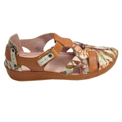 Floral Fisherman Tan Multi