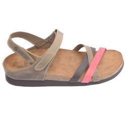 Cork Bed Strappy Sandal Brown