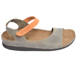 Cork Bed Nubuck Sandal Brown/Orange