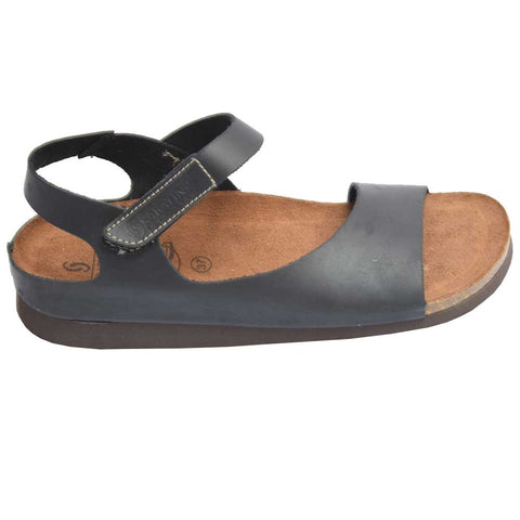 Cork Bed Nubuck Sandal Black