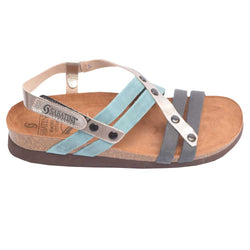 Cork Bed Strappy Sandal Blue Multi