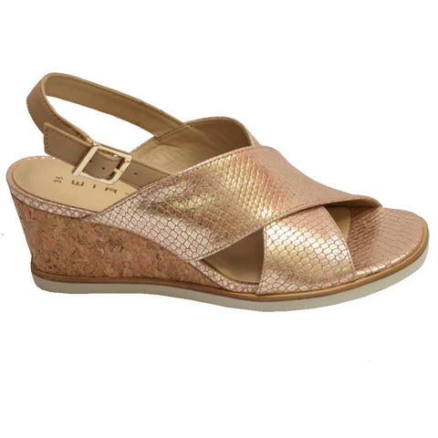 Hispanita Wedge Sandal Platinum