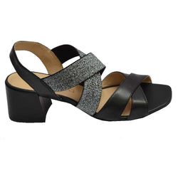 Pisa Elastic Dress Sandal Black