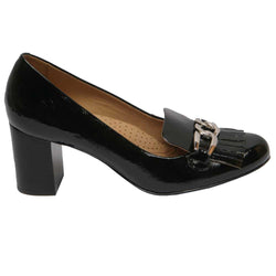 Mabel 12 Tassel Pump Black