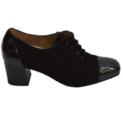 Laced Heel Black