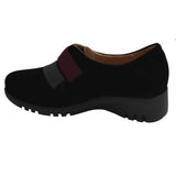 Wedge Slip On Suede Black
